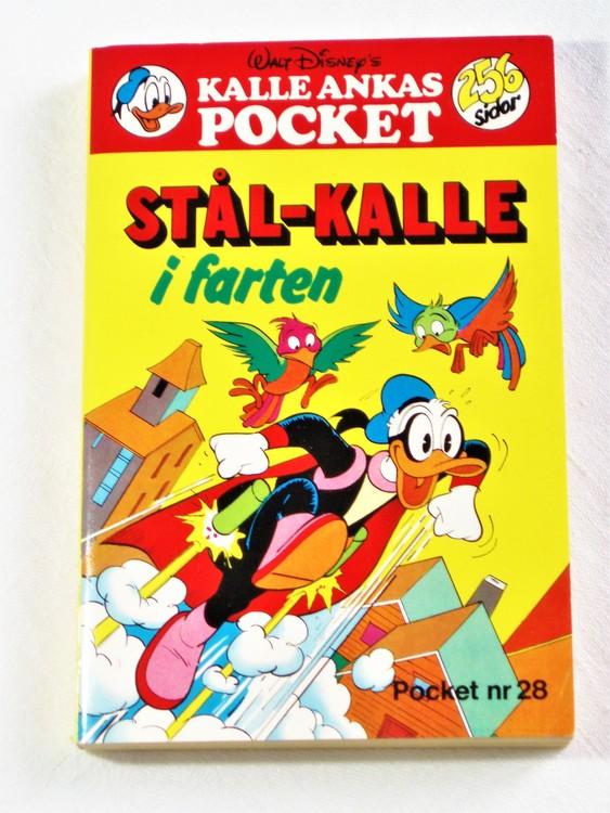 Kalle Ankas Pocket nr 28 1978 Serie-pocket 256 sidor mycket bra skick nyskick oläst