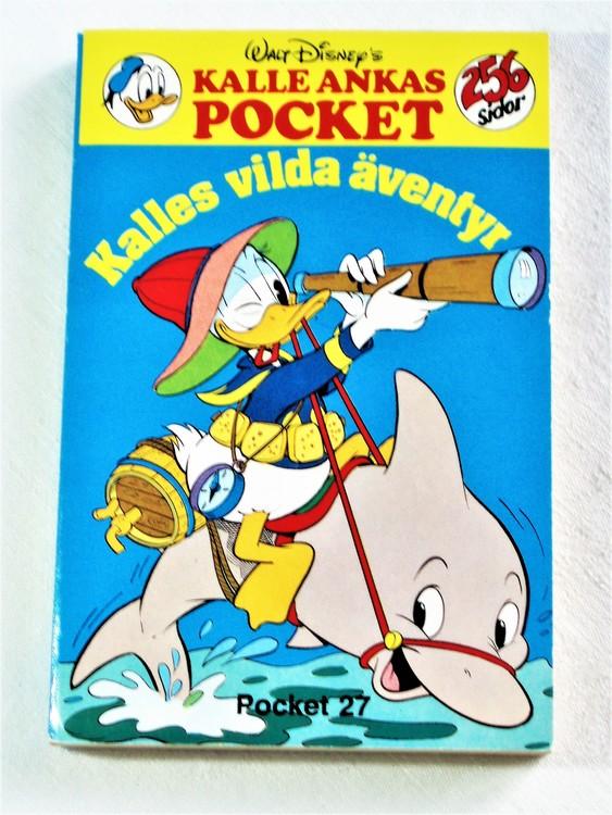 Kalle Ankas Pocket nr 27 1978 Serie-pocket 256 sidor mycket bra skick nyskick oläst