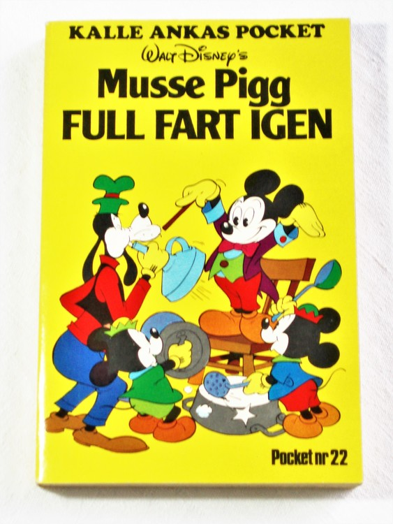 Kalle Ankas Pocket nr 22 1976 Serie-pocket 256 sidor mycket bra skick nyskick oläst