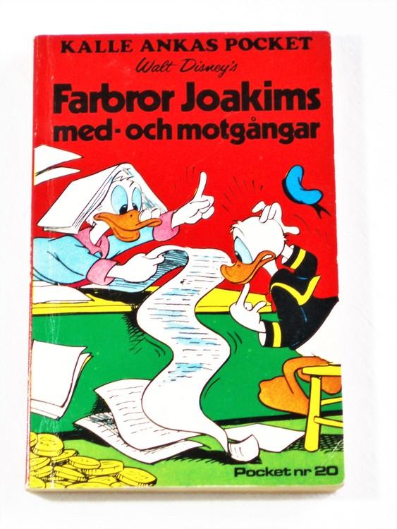 Kalle Ankas Pocket nr 20 1975 Serie-pocket 256 sidor bra skick.