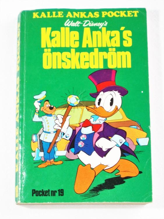 Kalle Ankas Pocket nr 19 1975 Serie-pocket 256 sidor bra skick.