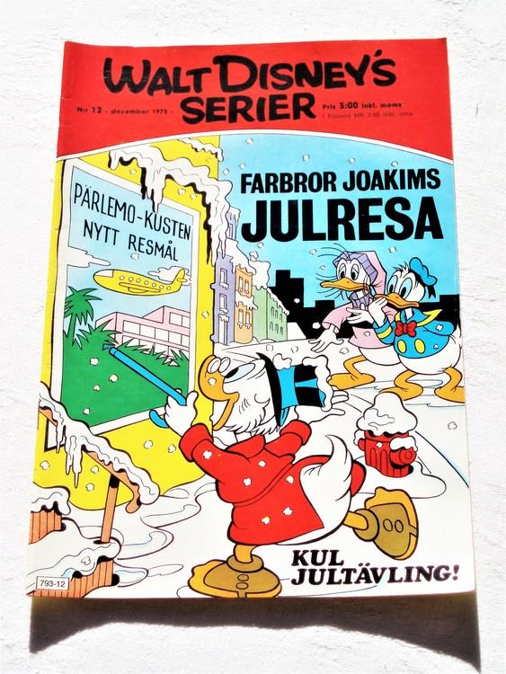 Walt Disneys Serier nr 12 December 1975 mycket bra skick