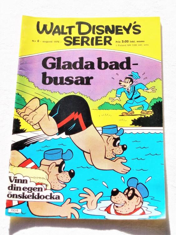 Walt Disneys Serier nr 8 Augusti 1975 mycket bra skick