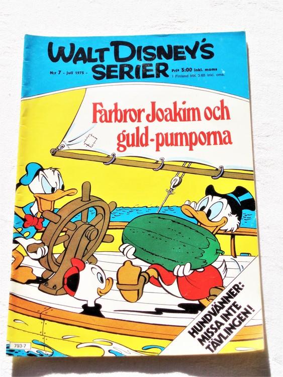 Walt Disneys Serier nr 7 Juli 1975 mycket bra skick