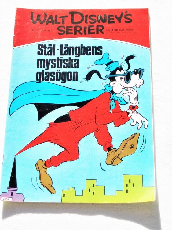Walt Disneys Serier nr 6 Juni 1975 mycket bra skick