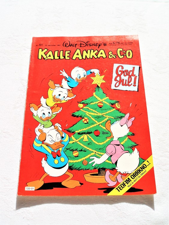Kalle Anka&Co nr 51 1982 mycket bra skick adressetikett baksida ,data tryckt.