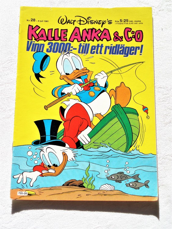 Kalle Anka&Co nr28,1981 bättre skick,lite småskador finns.