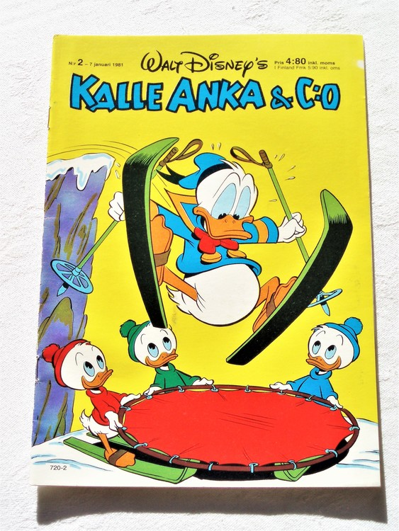 Kalle Anka&Co nr2,1981 mycket bra skick adresstryck baksida data.