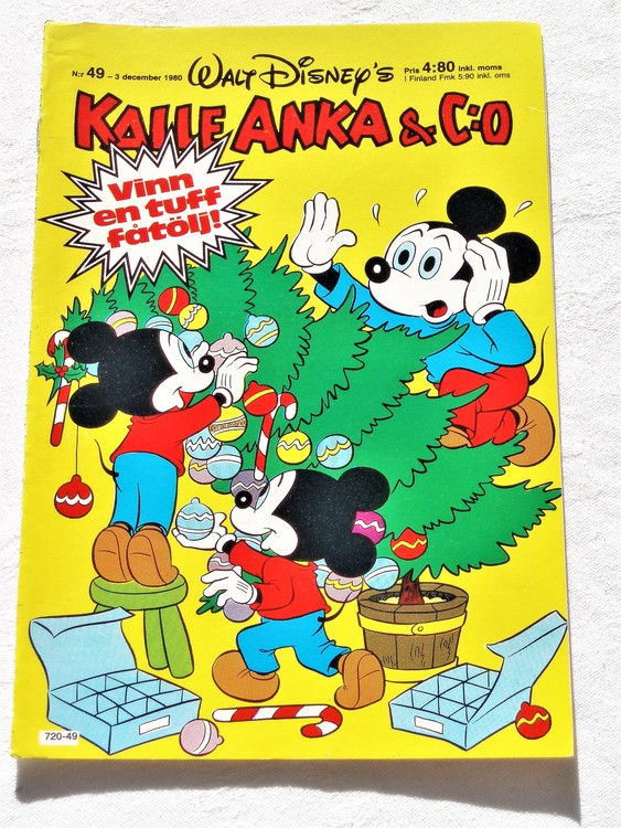 Kalle Anka&Co nr49,1980 mycket bra skick adresstryck baksida data.