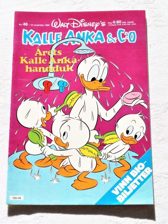 Kalle Anka&Co nr46,1980 mycket bra skick adresstryck baksida data.
