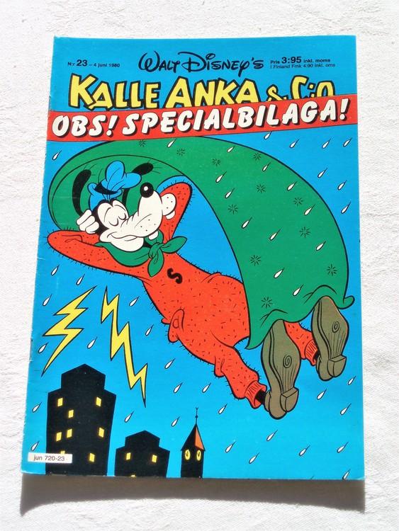 Kalle Anka&Co nr23,1980 mycket bra skick adresstryck baksida data.