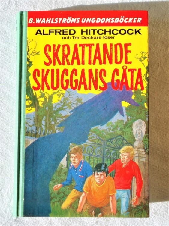 """Tre Deckare Löser """"Skrattande Skuggans Gåta"""" Alfred Hitchcock mycket bra skick"""