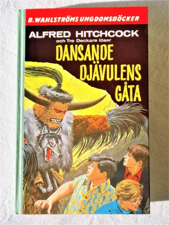 """Tre Deckare Löser """"Dansande Djävulens Gåta"""" Alfred Hitchcock mycket bra skick"""