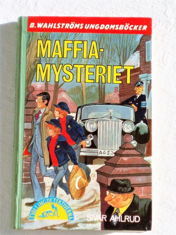 "Tvillingdetektiverna ""Maffia Mysteriet"" Sivar Ahlrud mycket bra skick."