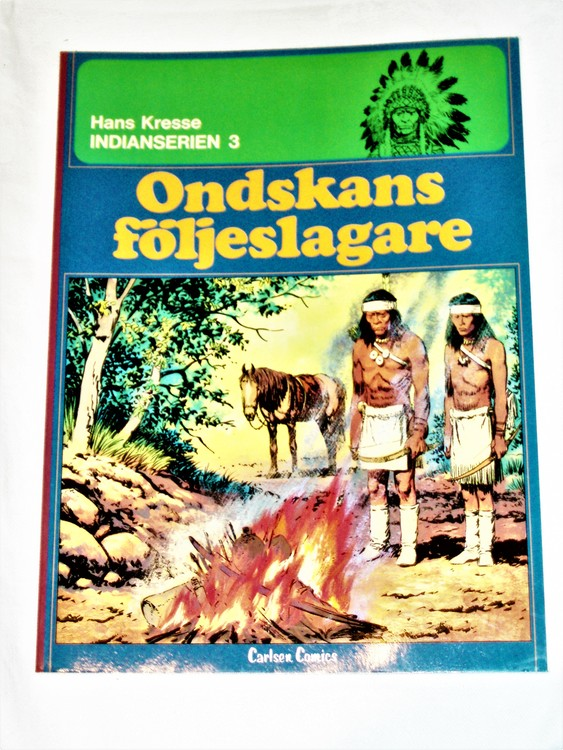 "Indianserien 3""Ondskans Följeslagare""1978 mycket bra skick nyskick oläst."