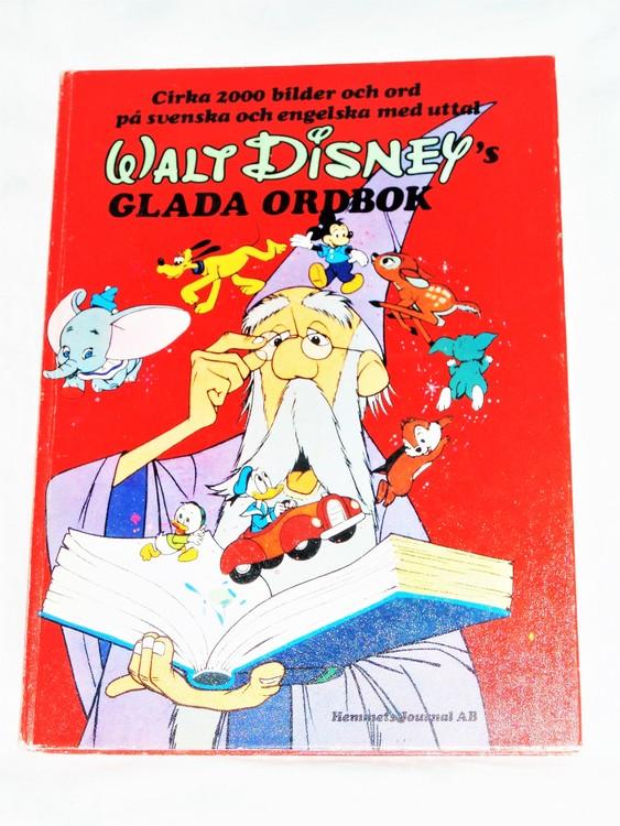 Walt Disneys Glada Ordbok ca 2000 bilder och ord bättre skick.