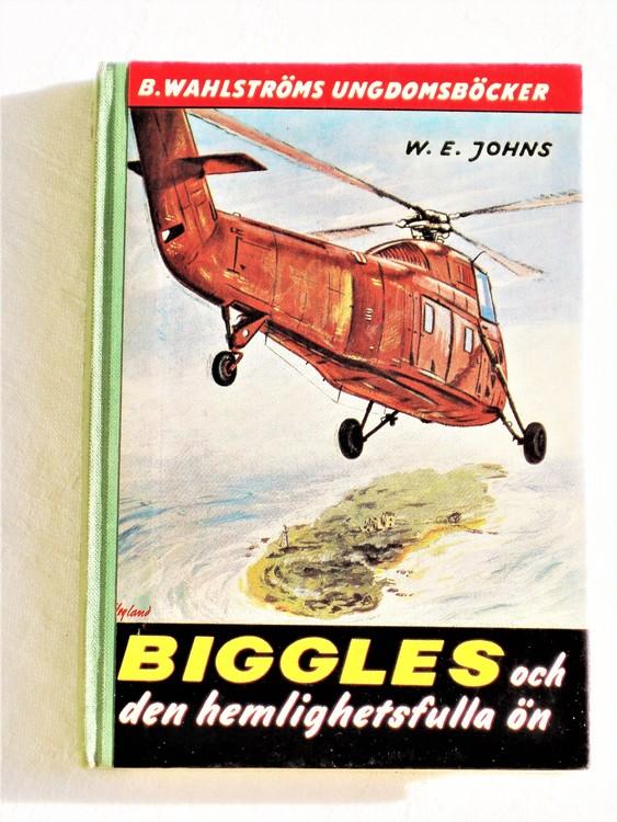 """Biggles """"och den hemlighetsfulla ön"""" Kapten W.E. Johns mycket bra skick."""