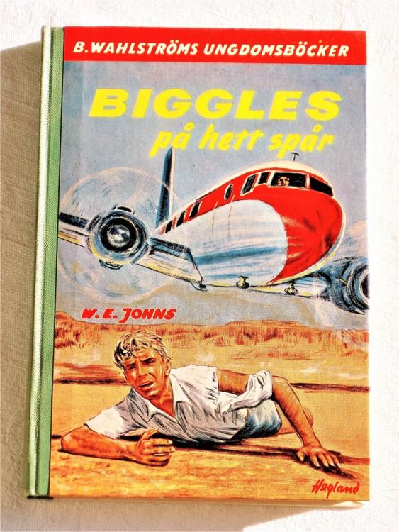 """Biggles """" På Hett Spår """" Kapten W.E. Johns mycket bra skick."""