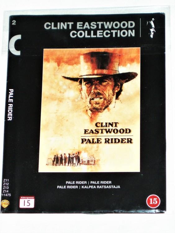 """Clint Eastwood """"Pale Rider""""Skiva & omslag Svensk text,normalt begagnat skick."""