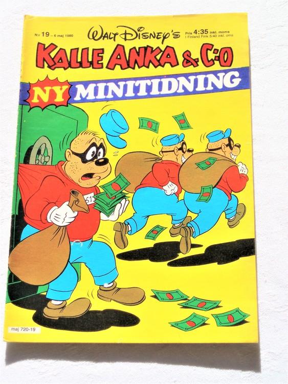 Kalle Anka&Co nr19,1980 mycket bra skick,ryggen lite sliten.
