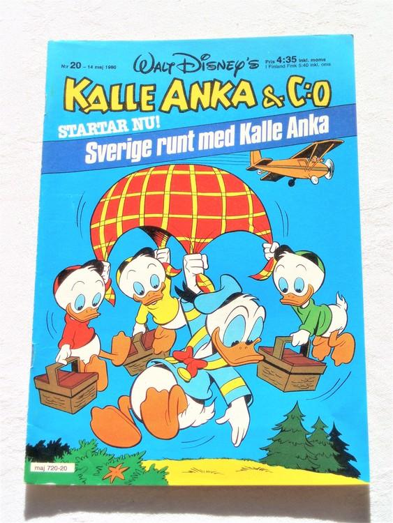 Kalle Anka&Co nr20,1980 mycket bra skick,ryggen lite sliten,adresstryck baksida