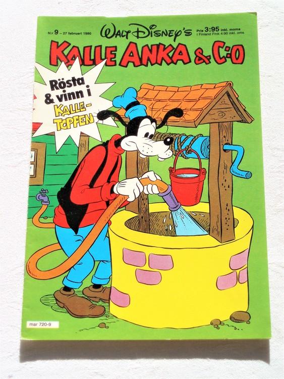 Kalle Anka&Co nr9,1980 mycket bra skick,ryggen lite sliten.