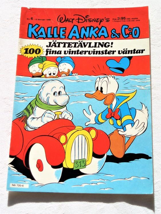 Kalle Anka&Co nr6,1980 mycket bra skick,ryggen lite sliten.