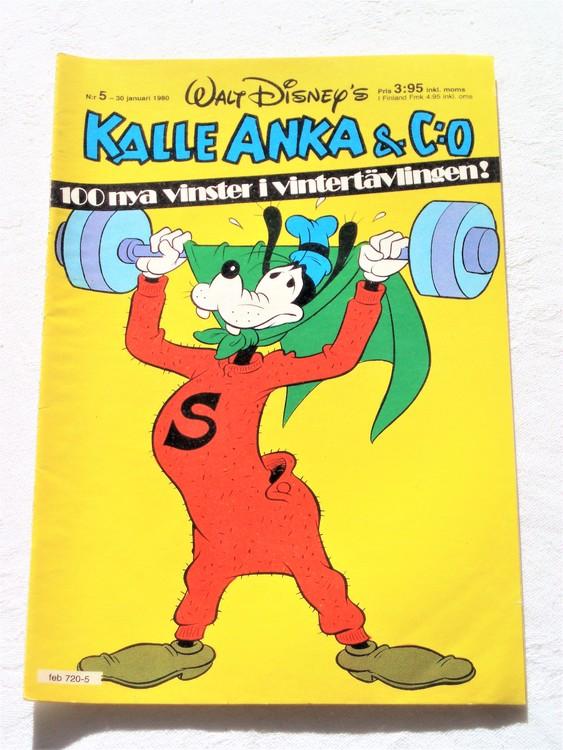 Kalle Anka&Co nr5,1980 mycket bra skick,ryggen lite sliten.