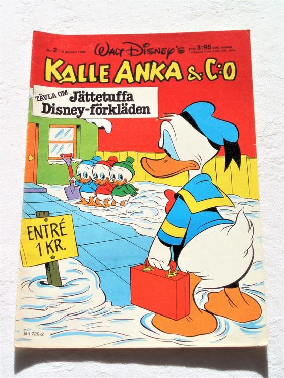 Kalle Anka&Co nr2,1980 mycket bra skick,ryggen lite sliten.