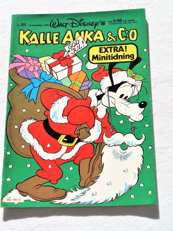Kalle Anka&Co nr 51 1979 normalslitet,adresstryck baksida,övrigt fin