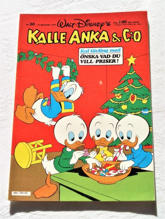 Kalle Anka&Co nr 50 1979 mycket bra skick,adresstryck baksida,övrigt fin.