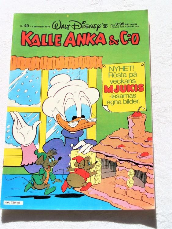 Kalle Anka&Co nr 49 1979 mycket bra skick adresstryck baksida,övrigt fin