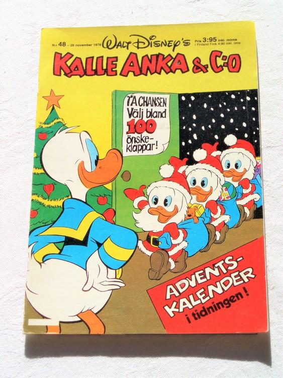 Kalle Anka&Co nr 48 1979 mycket bra skick,adresstryck baksida,övrigt fin.