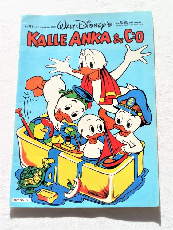 Kalle Anka&Co nr 47 1979 mycket bra skick,adresstryck baksida,övrigt fin.