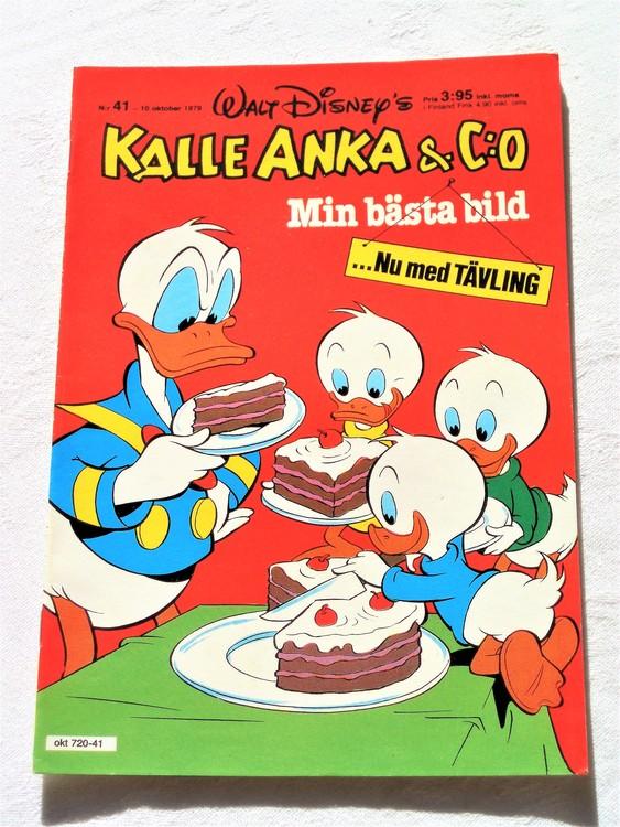 Kalle Anka&Co nr41 1979 mycket bra skick,adresstryck baksida,övrigt fin