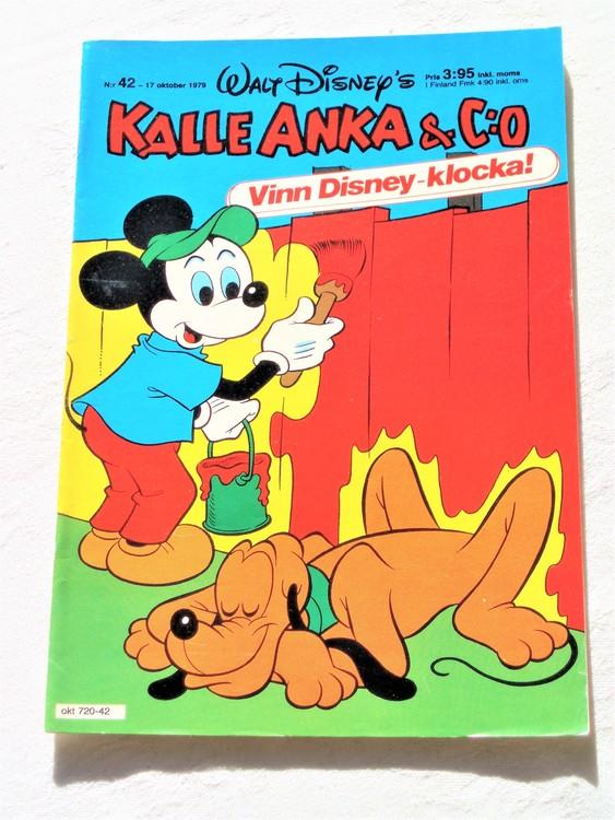 Kalle Anka&Co nr 42 1979 mycket bra skick,adresstryck baksida,övrigt fin