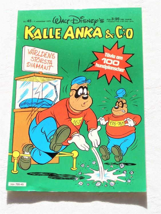 Kalle Anka&Co nr 45 1979 mycket bra skick,adresstryck baksida,övrigt fin
