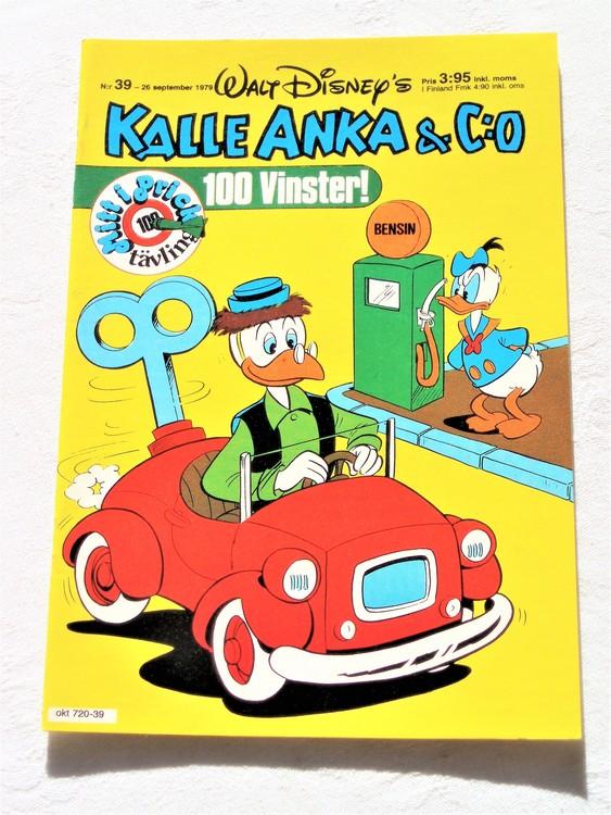 Kalle Anka&Co nr 39 1979 mycket bra skick,adresstryck baksida,övrigt fin