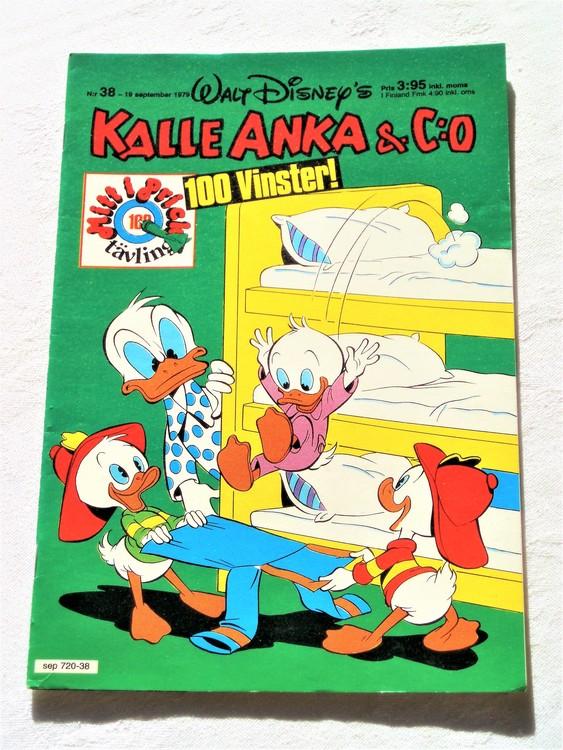 Kalle Anka&Co nr 38 1979 mycket bra skick,adresstryck baksida,övrigt fin