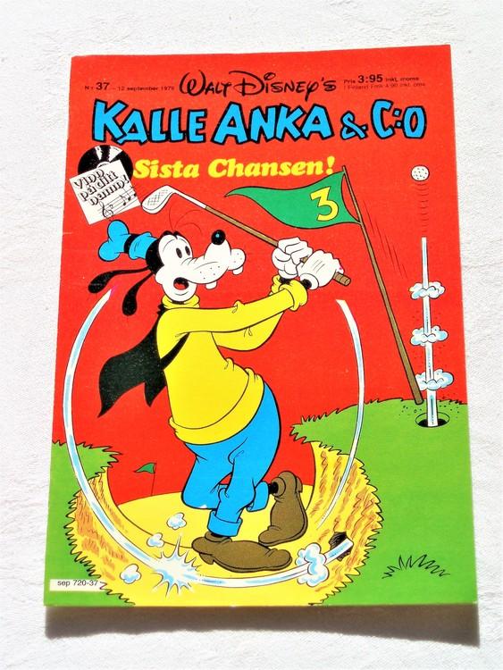 Kalle Anka&Co nr 37 1979 mycket bra skick,adresstryck baksida,övrigt fin.