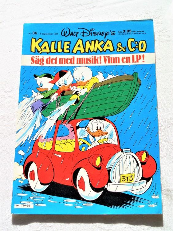 Kalle Anka&Co nr 36 1979 mycket bra skick,adresstryck baksida,övrigt fin