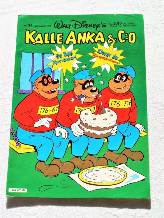 Kalle Anka&Co nr 34 1979 mycket bra skick,adresstryck baksida,övrigt fin