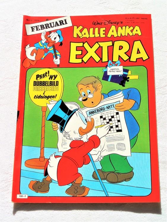 Kalle Anka Extra nr2 1979 mycket bra skick,adresstryck baksida,övrigt fin