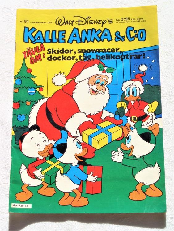 Kalle Anka&Co nr51 1978 mycket bra skick,adresstryck baksida.