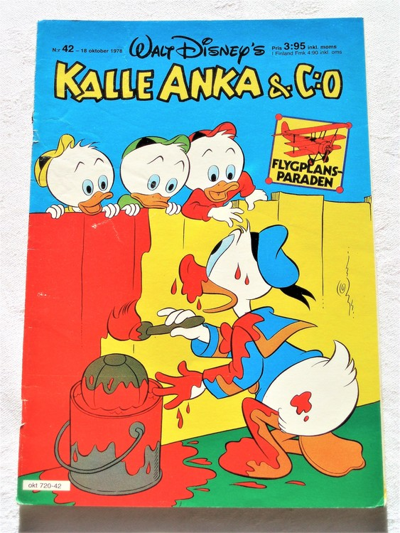Kalle Anka&Co nr42 1978 mycket bra skick,adresstryck baksida.