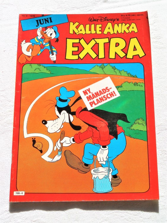 Kalle Anka Extra nr6 1978 mycket bra skick