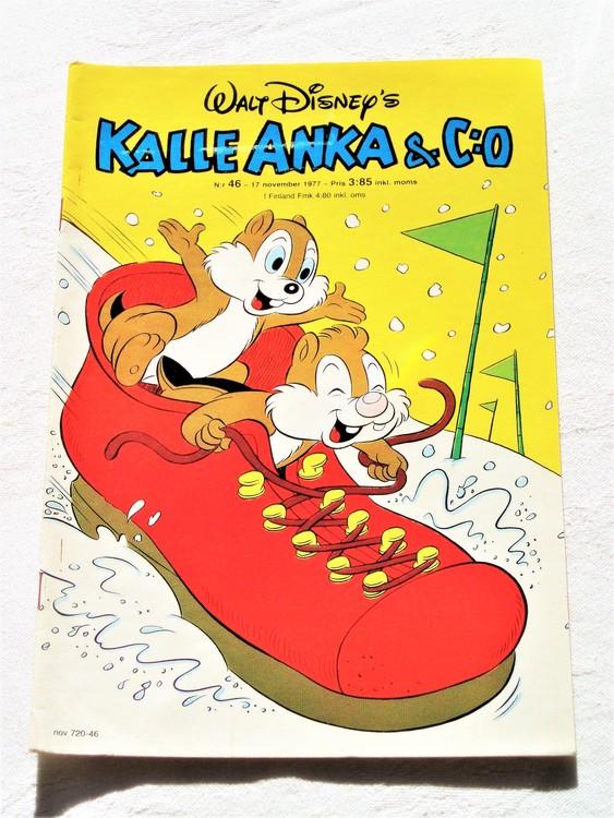 Kalle Anka&Co nr46 1977 mycket bra skick,adressetikett baksida.