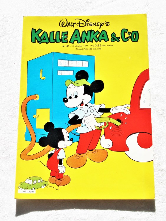 Kalle Anka&Co nr41 1977 mycket bra skick,addressetikett baksida.