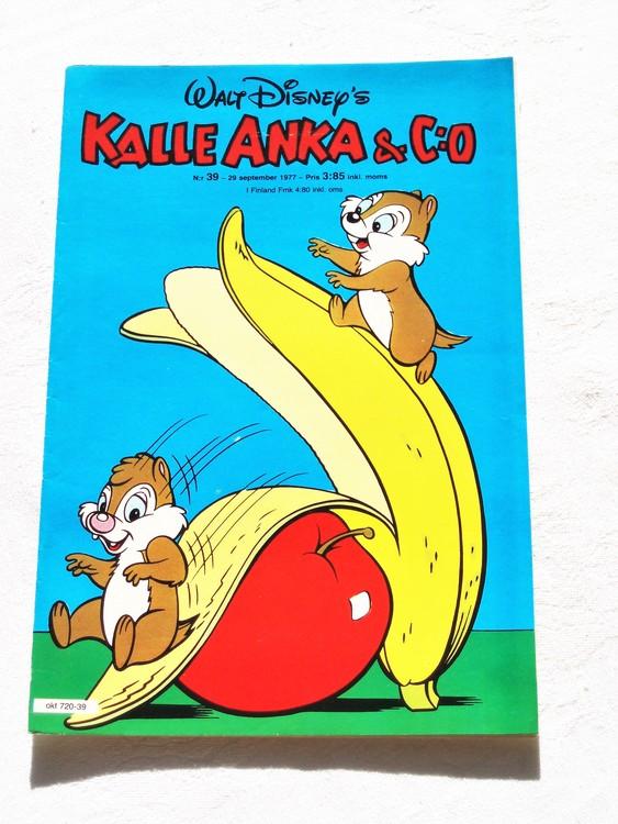 Kalle Anka&Co nr39 1977 mycket bra skick,adressetikett baksida.