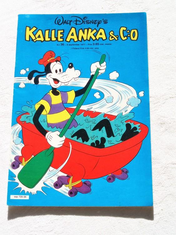 Kalle Anka&Co nr36 1977 mycket bra skick,adressetikett baksida.